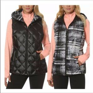 Gerry Reversible Down Packable Hooded Vest Quilted